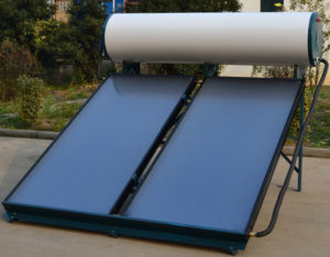 Flat plate solar water heater info