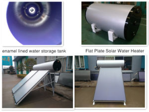 Flat plate solar water heater(pressurized type)