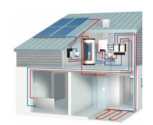 solar electric hot water system