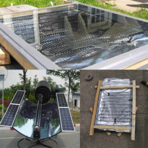 Homemade plate solar water heater