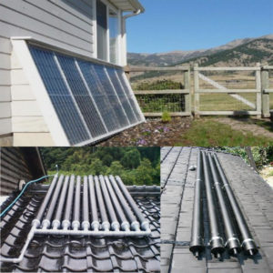 Plastic tube type homemade solar collector