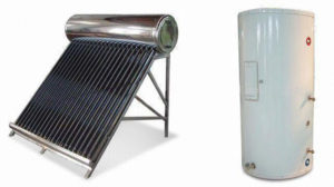Solar water heaters and electric water heaters