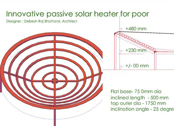 diy passive solar water heater system