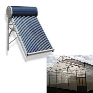solar water heater greenhouse