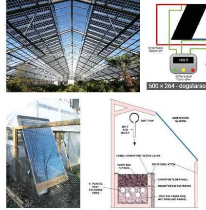 solar water heater greenhouse panels