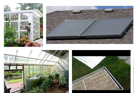 thermal solar water heater greenhouse
