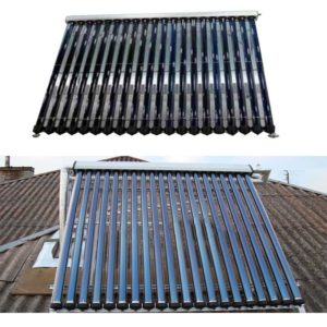 Vacuum tube solar collector panel