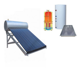roof vacuum tube and split solar water heating