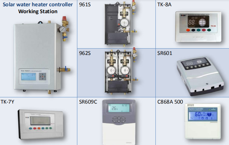Solar water heater controller accessories