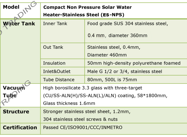 solar hot water heater home