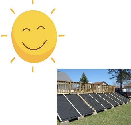 solar water storage tank panels