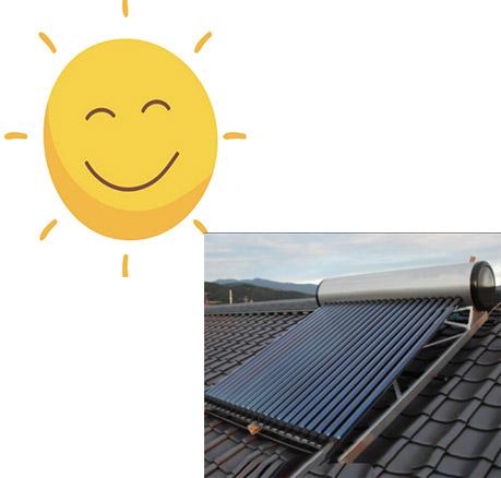solar water storage tank heater